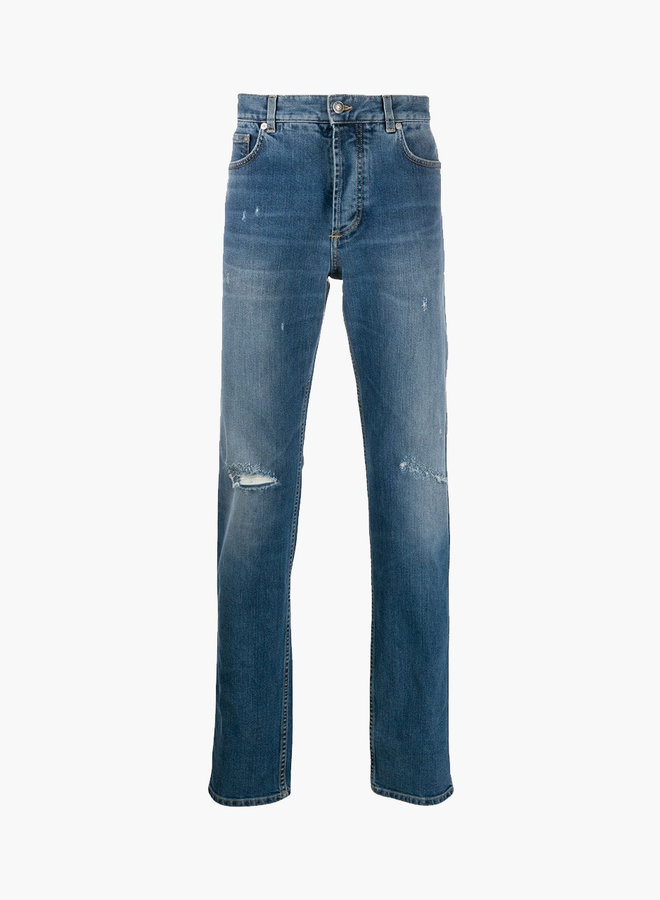Givenchy Distressed Blow Out Knee Jeans