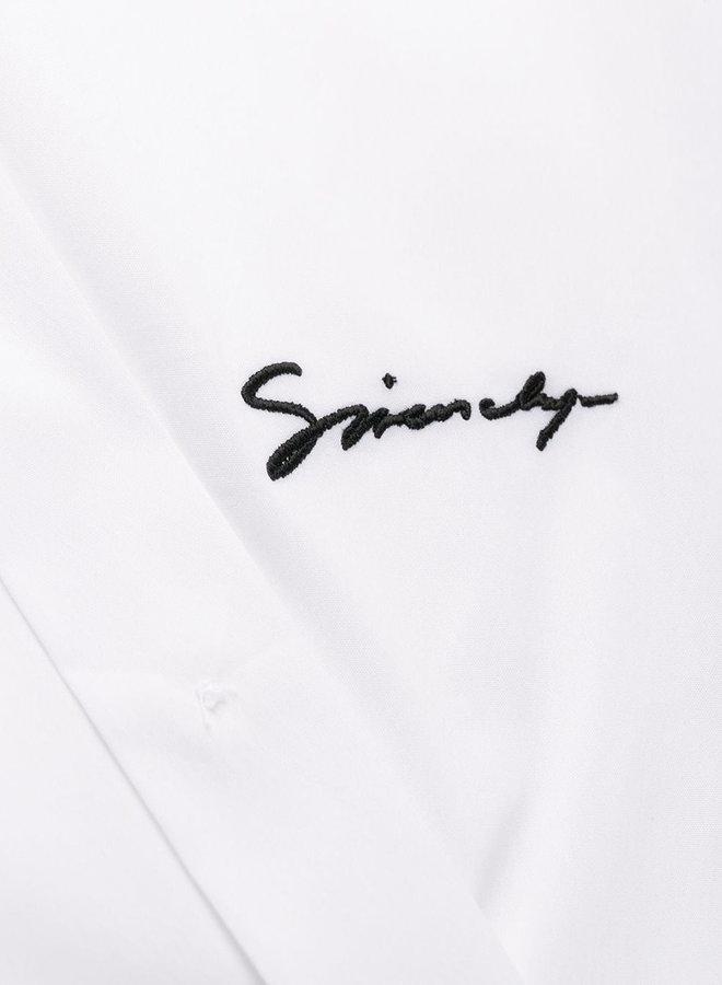 Givenchy Hidden Buttons Logo Shirt