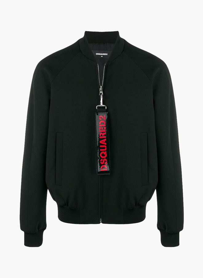 Dsquared2 Hashtag Zipper Bomber Jacket