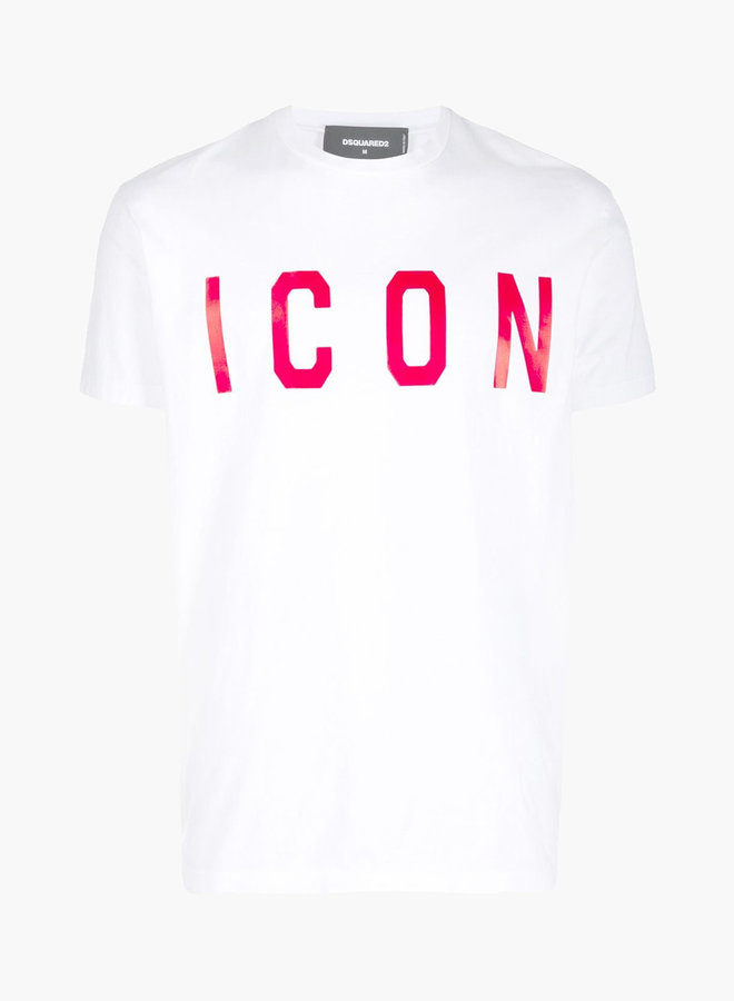 Dsquared2 Red ICON Text T-Shirt
