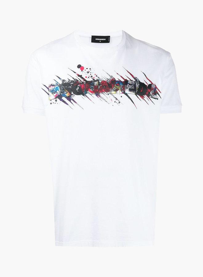 Dsquared2 Paint Splatter Logo T-Shirt