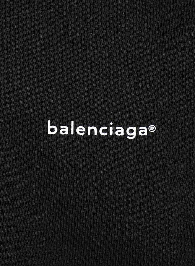 Balenciaga Small Logo Chest Oversized T-Shirt