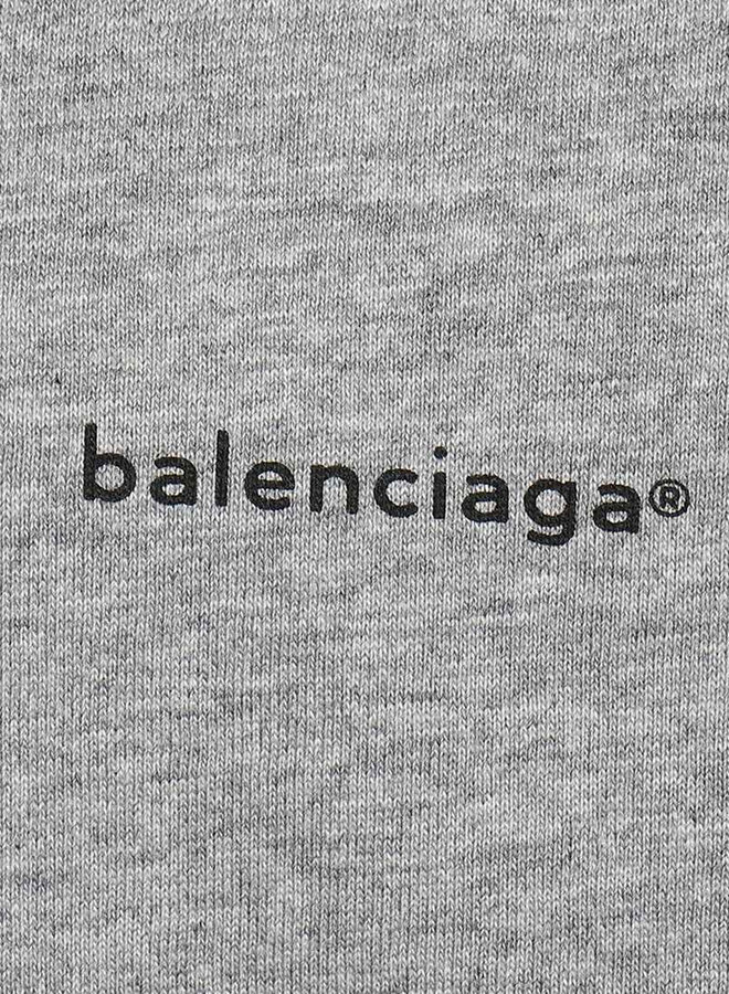 Balenciaga Small Logo Chest Oversized T-Shirt