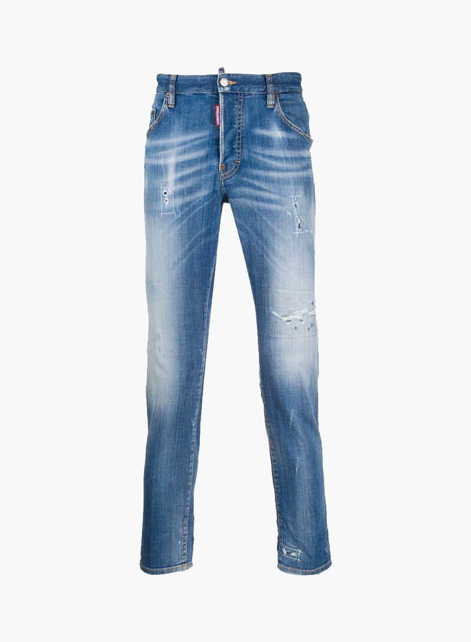 Dsquared2 Abstract Stitching Skater Jeans