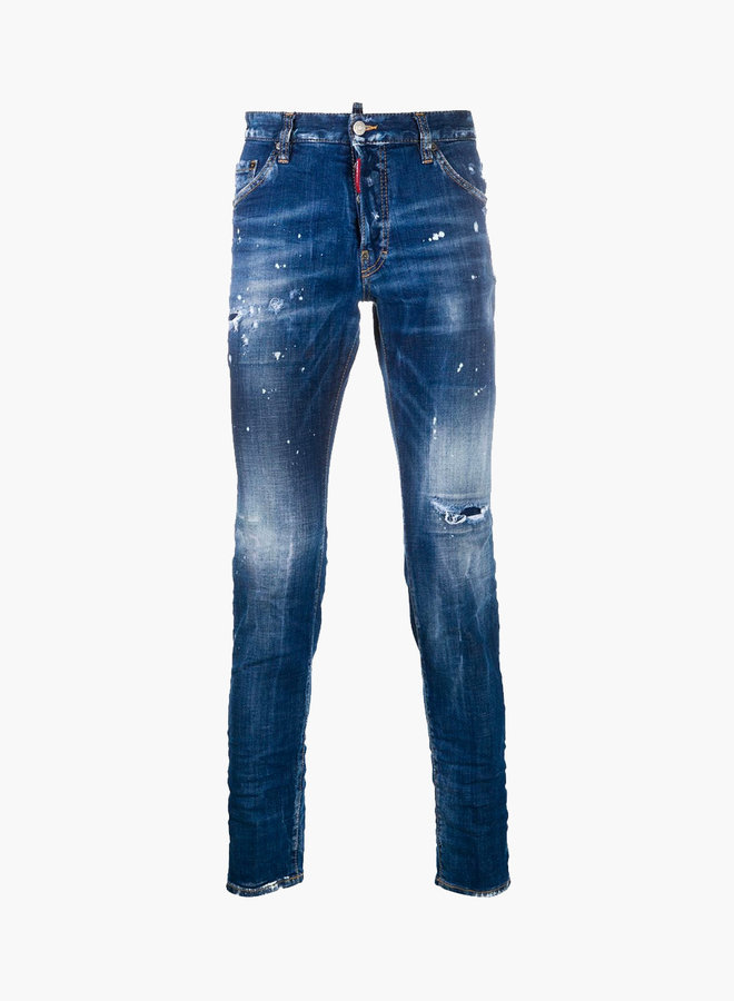 Dsquared2 Dan Red Scripture Cool Guy Jeans