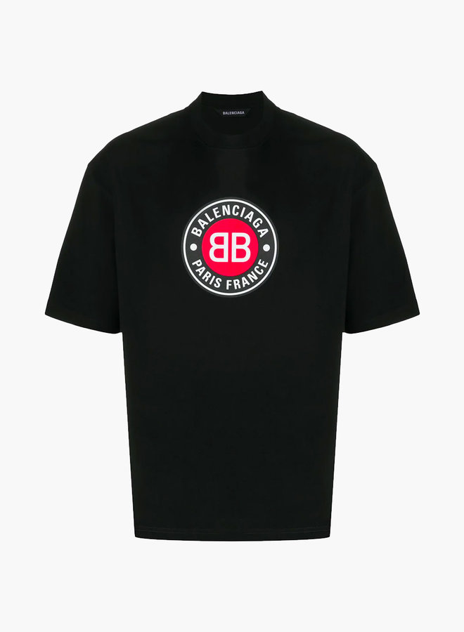 Balenciaga Red Circle Logo T-Shirt