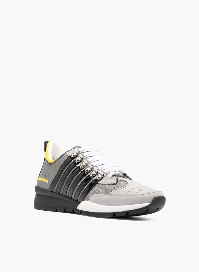 Dsquared2 Black Stripe Yellow Heel Sneaker