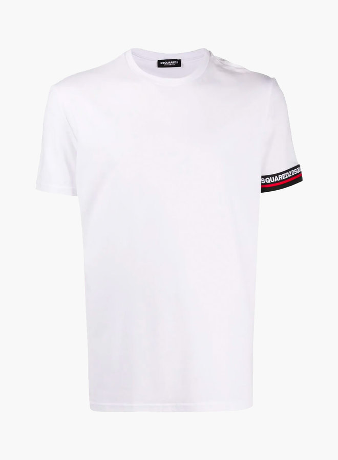 Dsquared2 Red Stripe Black Armband T-Shirt