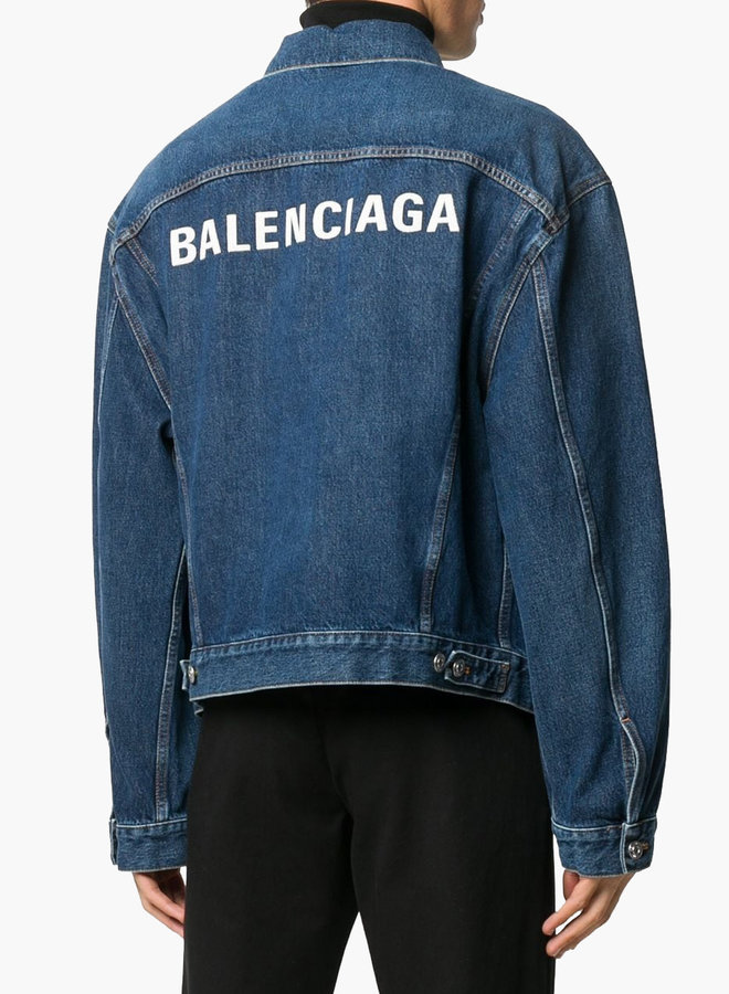 Balenciaga Back Logo Denim Jacket