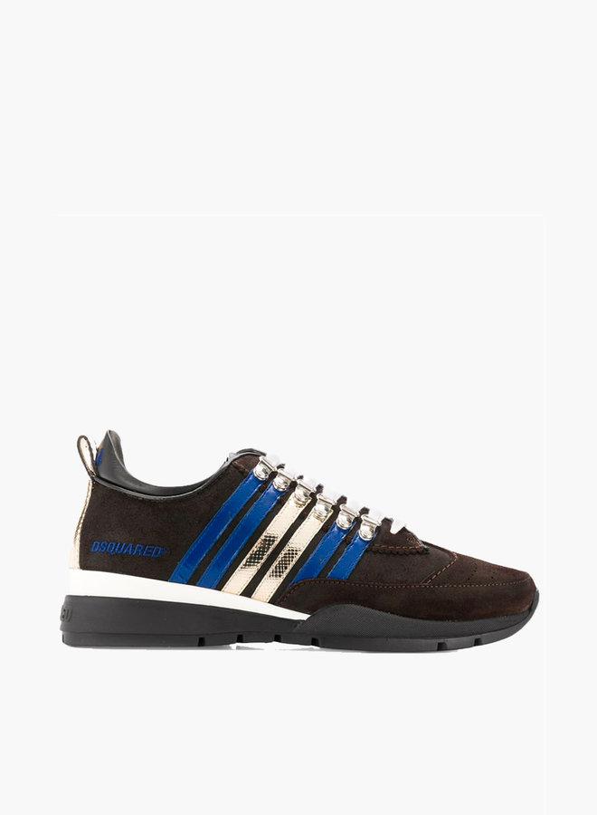 Dsquared2 classic striped metallic sneaker