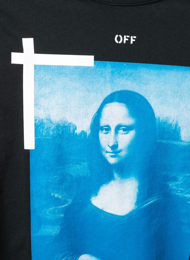 Off-White S/S Slim Fit Blue Mona Lisa T-Shirt