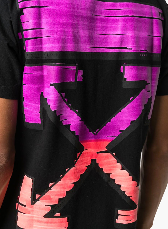 Off-White S/S Slim Fit Pink Arrow Marker T-Shirt