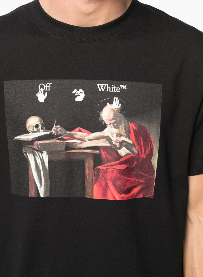 Off-White S/S Slim Fit Red Arrow Caravaggio T-Shirt