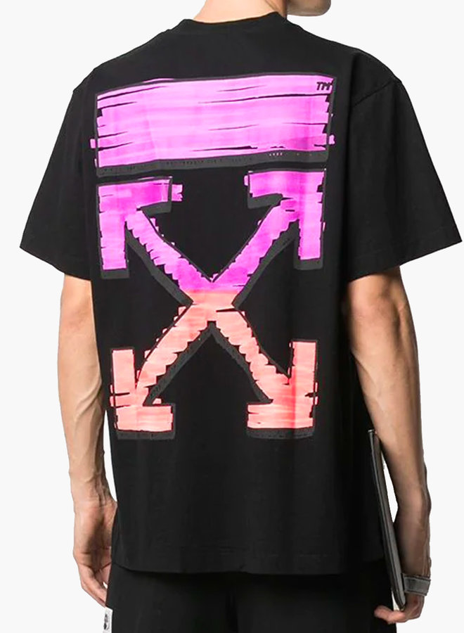 Off-White S/S Oversized Fit Pink Arrow Marker T-Shirt