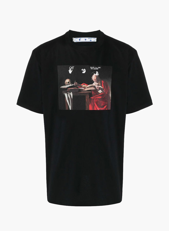 Off-White S/S Oversized Fit Red Arrow Caravaggio T-Shirt