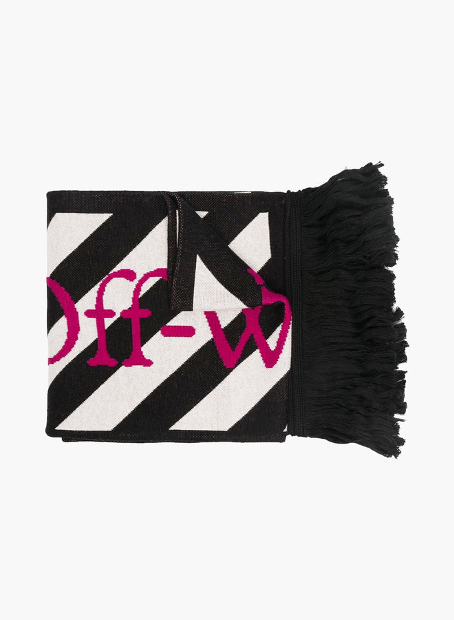 Off-White Arrows Pink Logo Scarf