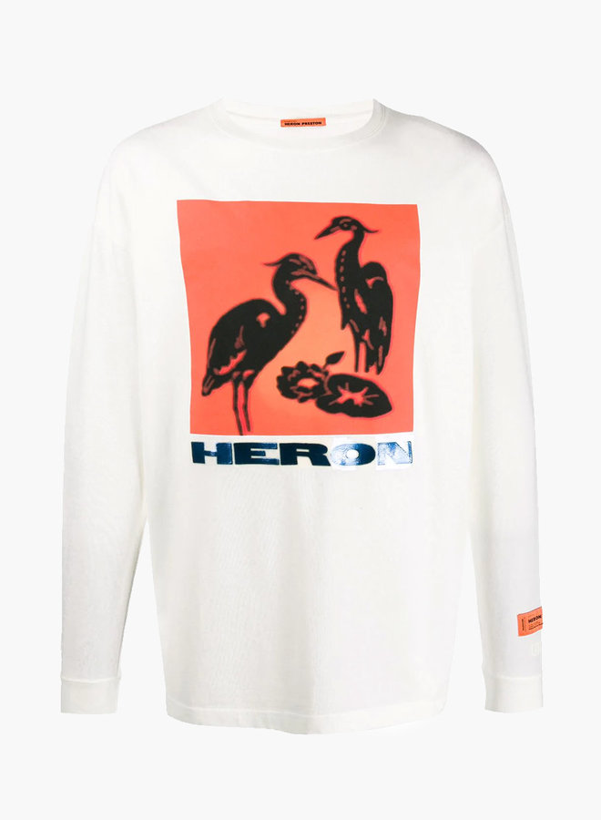 Heron Preston Square Birds Print LS T-Shirt