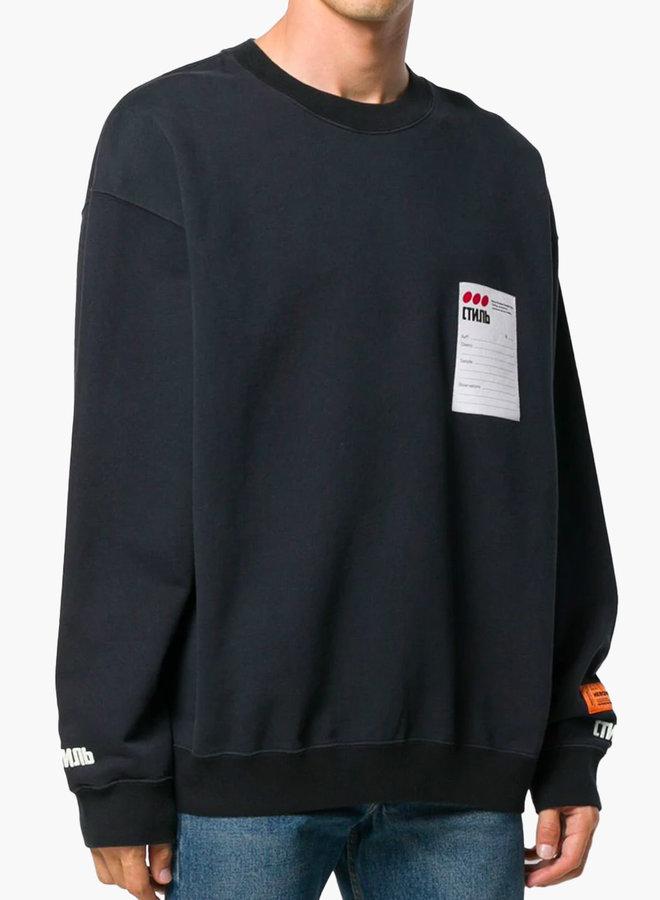 Heron Preston Sticker Label Sweatshirt