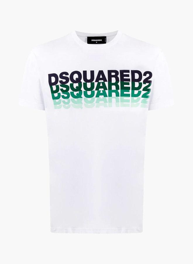 Dsquared2 Green Logo Gradient T-Shirt
