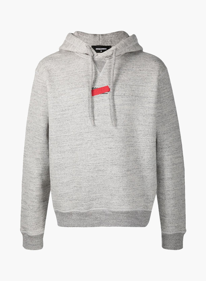 Dsquared2 Red Redacted Logo Hoodie