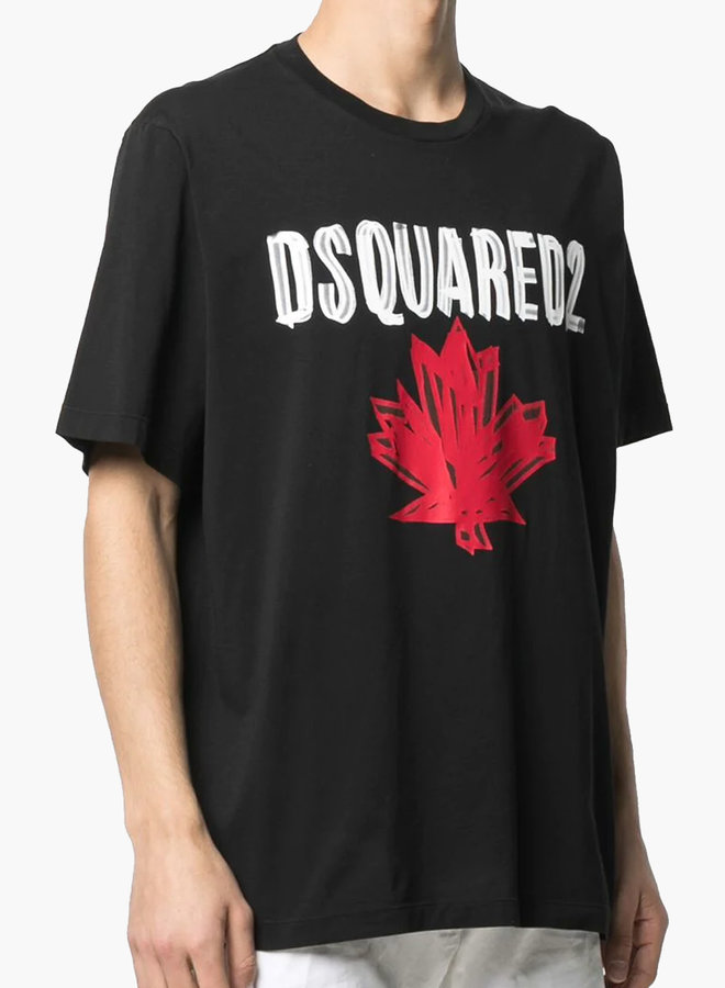 Dsquared2 Scribble Maple Leaf T-Shirt
