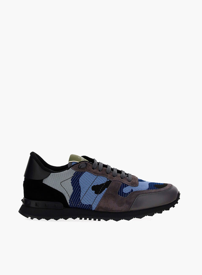 Valentino Perforated Camouflage Rockrunner Sneaker