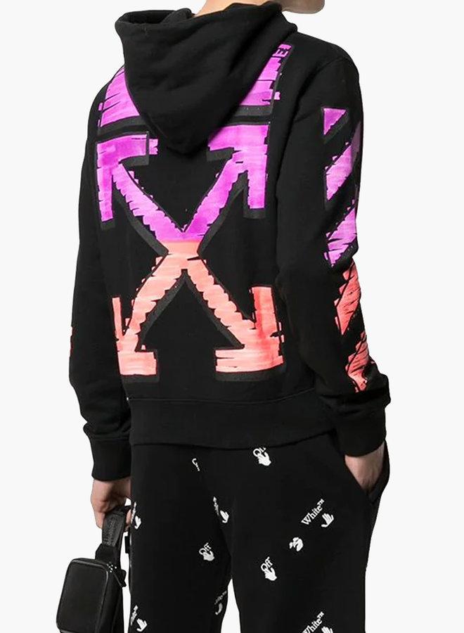Off-White Slim Fit Pink Arrow Marker Hoodie