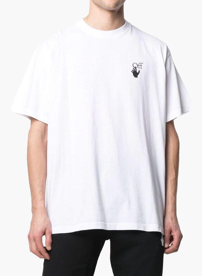 Off-White S/S Oversized Fit Red Arrow Marker T-Shirt