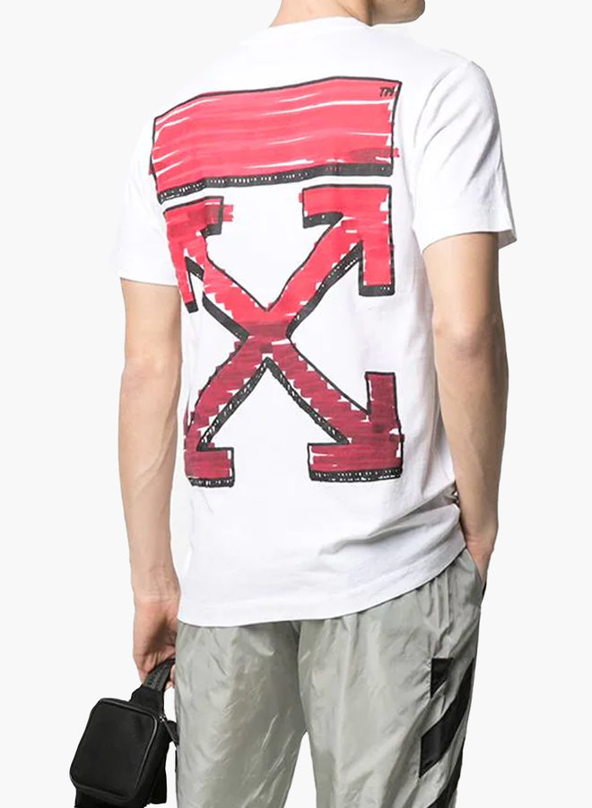 Off-White S/S Slim Fit Red Arrow Marker T-Shirt