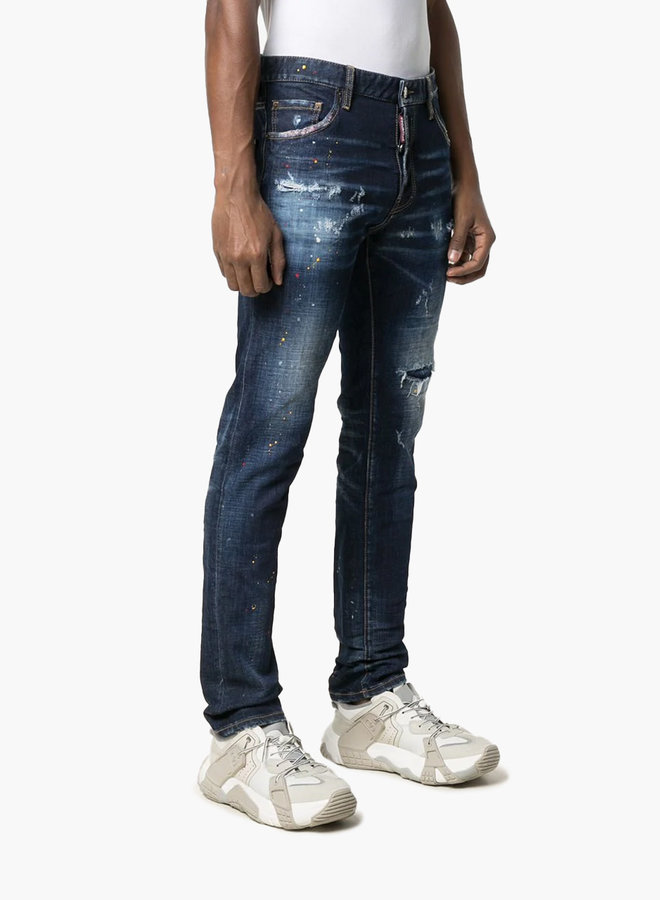Dsquared2 Ripped Belt Patch Cool Guy Jeans