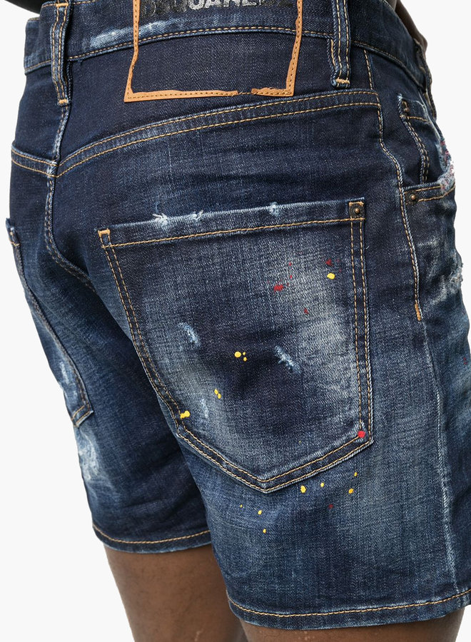 Dsquared2 Ripped Belt Patch Shorts