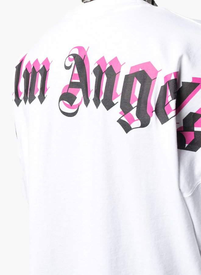 Palm Angels Oversized Mock Neck Double Logo T-Shirt