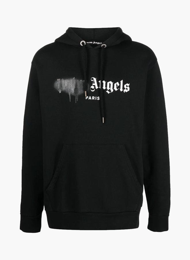 Palm Angels Black Spray Paris Hoodie