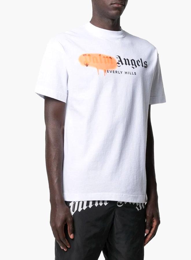 Palm Angels Orange Spray Beverly T-Shirt