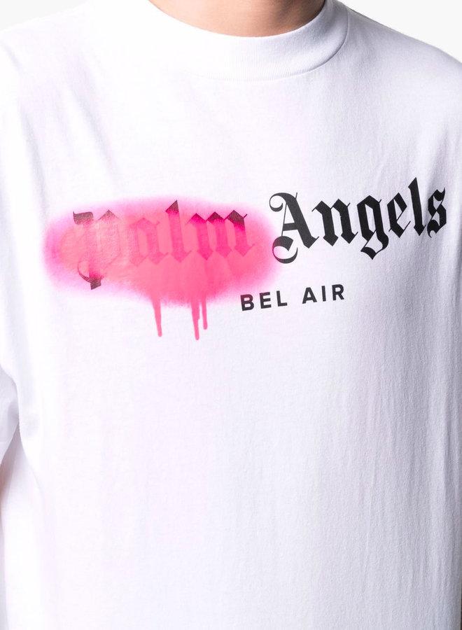 Palm Angels Pink Spray Bel Air T-Shirt