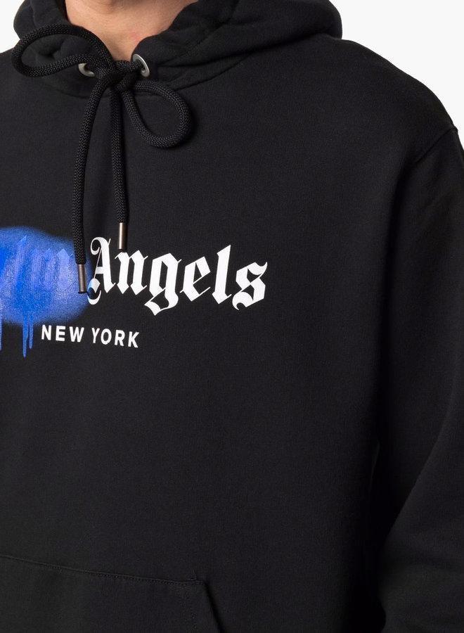 Palm Angels Blue Spray New York Hoodie