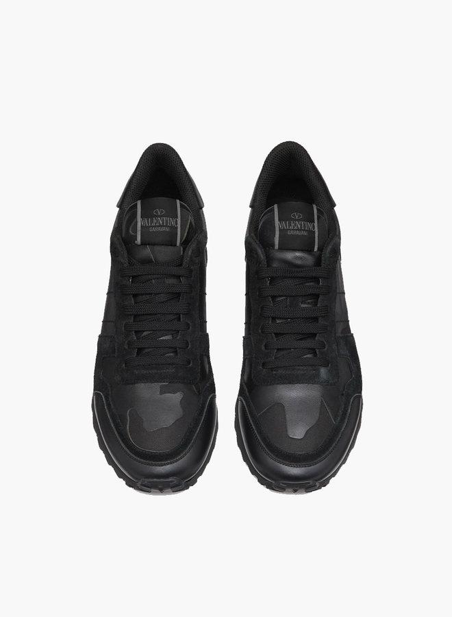 Valentino Noir Camouflage Rockrunner Sneaker