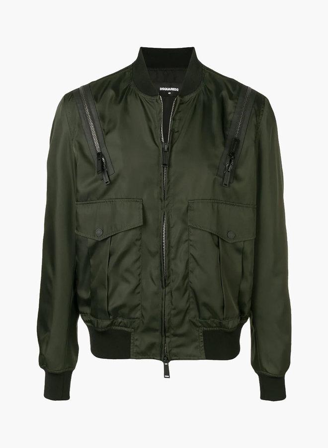 Dsquared2 Shoulder Zipper Bomber Jacket