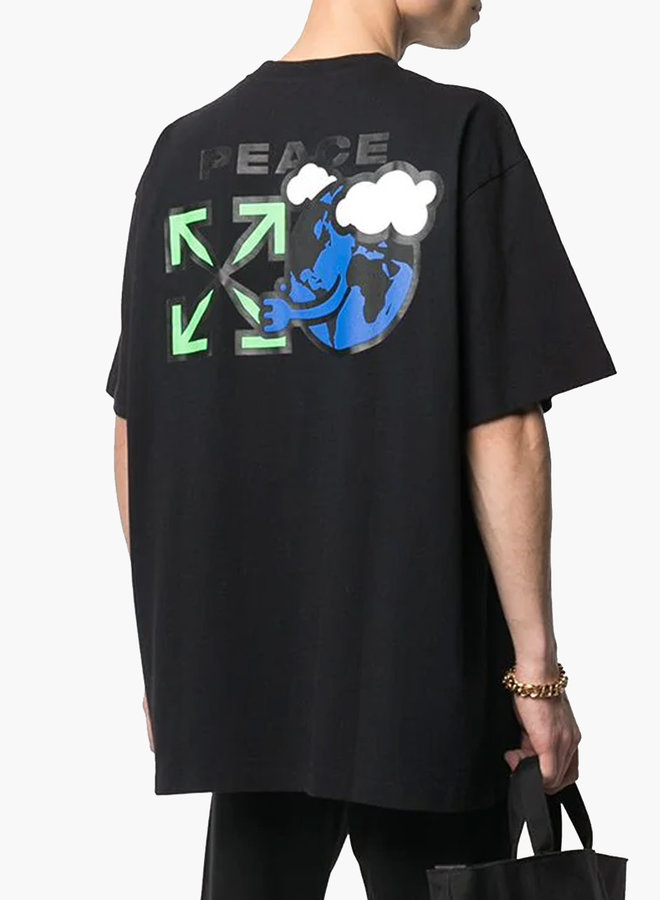 Off-White S/S Oversized Fit Peace T-Shirt