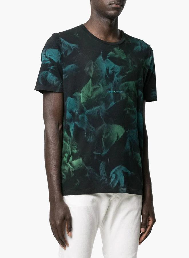 Saint Laurent Paris Classic Logo Floral T-Shirt