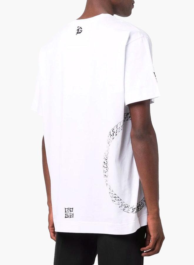 Givenchy Circle Chain Logo T-Shirt