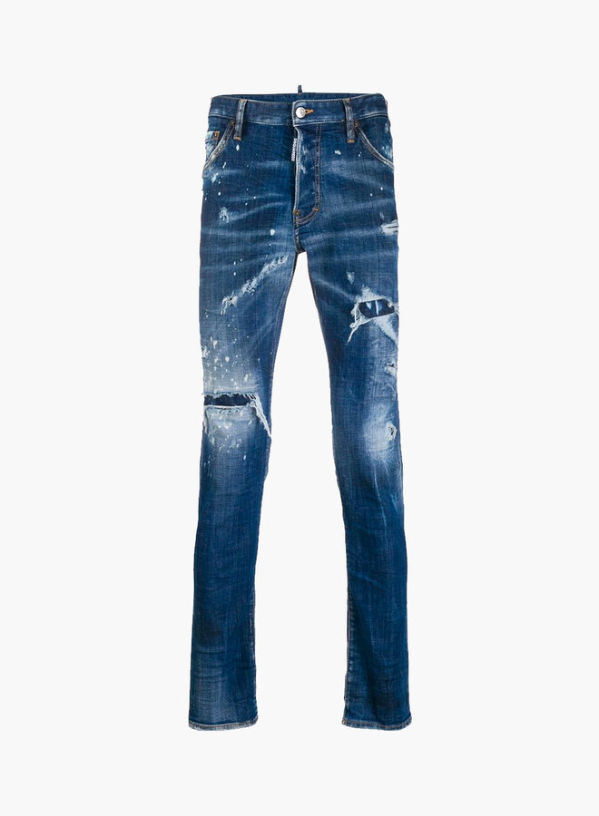 Dsquared2 Red Patch Light Wash Cool Guy Jeans