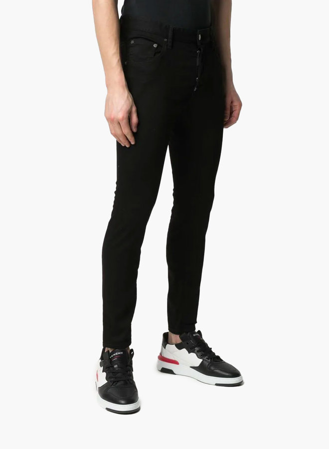 Dsquared2 Leather Logo Patch Skater Jeans
