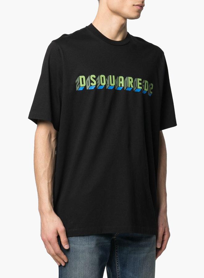 Dsquared2 Block Letters Logo T-Shirt