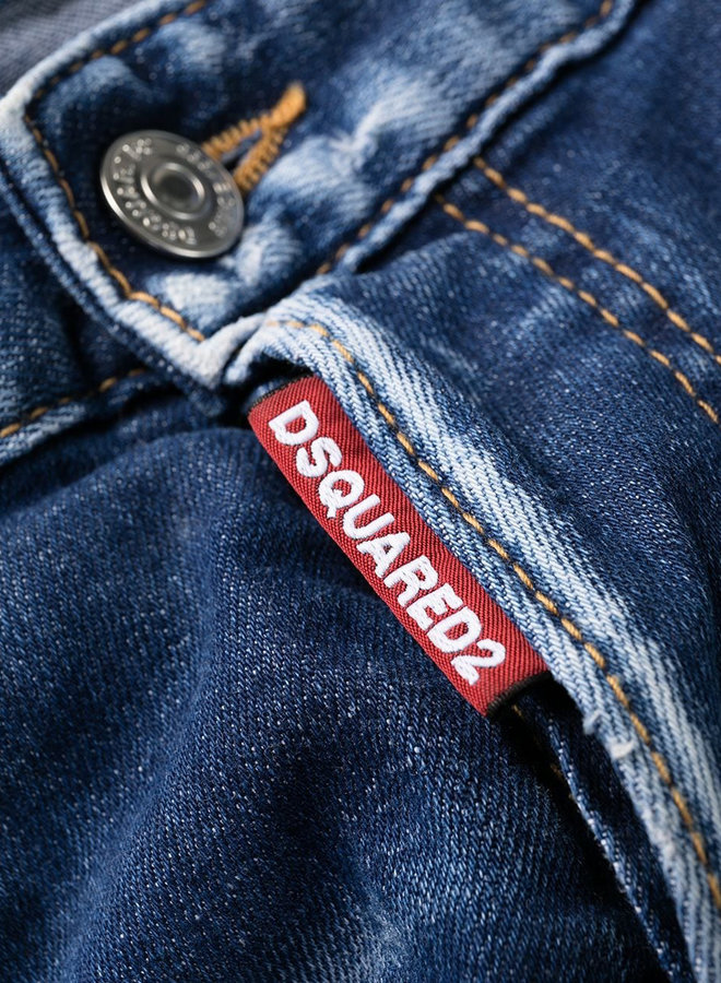 Dsquared2 Orange Patch Destroyed Cool Guy Jeans