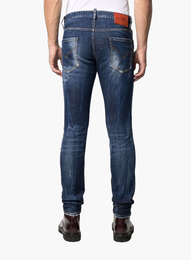Dsquared2 Orange Patch Clean Cool Guy Jeans