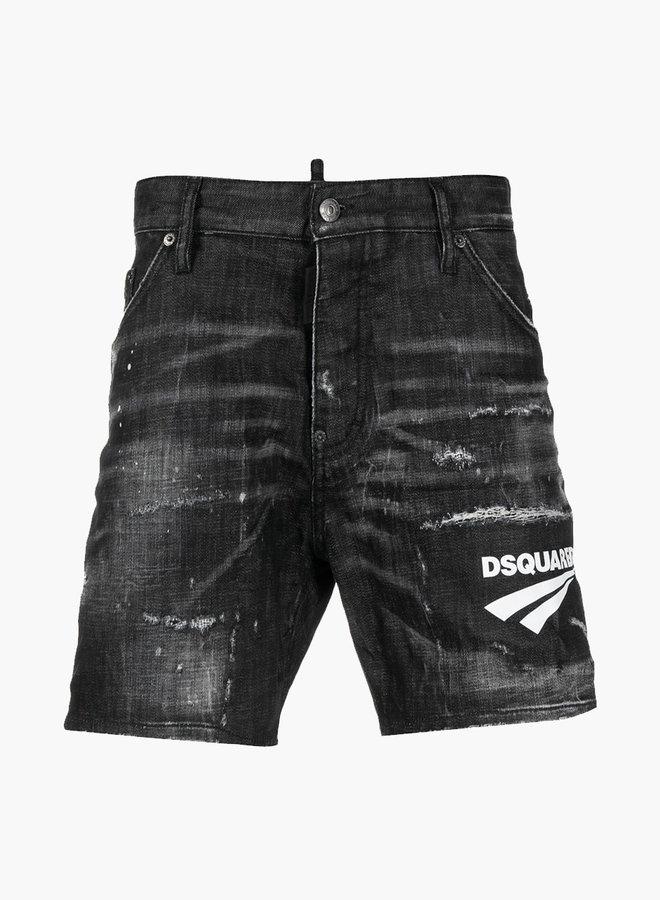 Dsquared2 Front Logo Denim Shorts