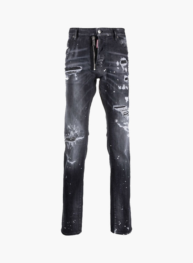Dsquared2 Distressed Zipper Cool Guy Jeans