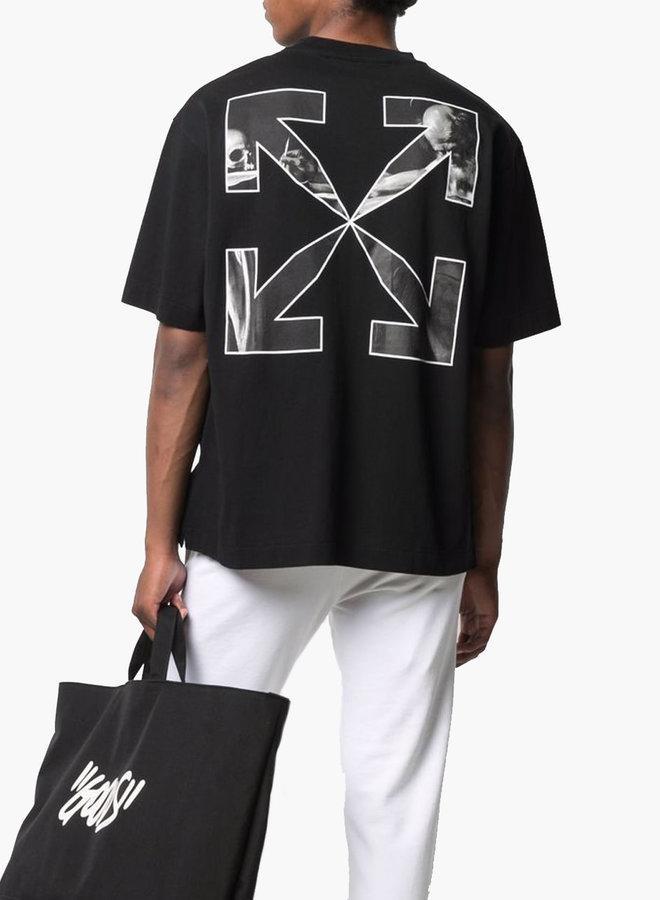 Off-White Caravaggio Arrows B&W Oversized T-Shirt