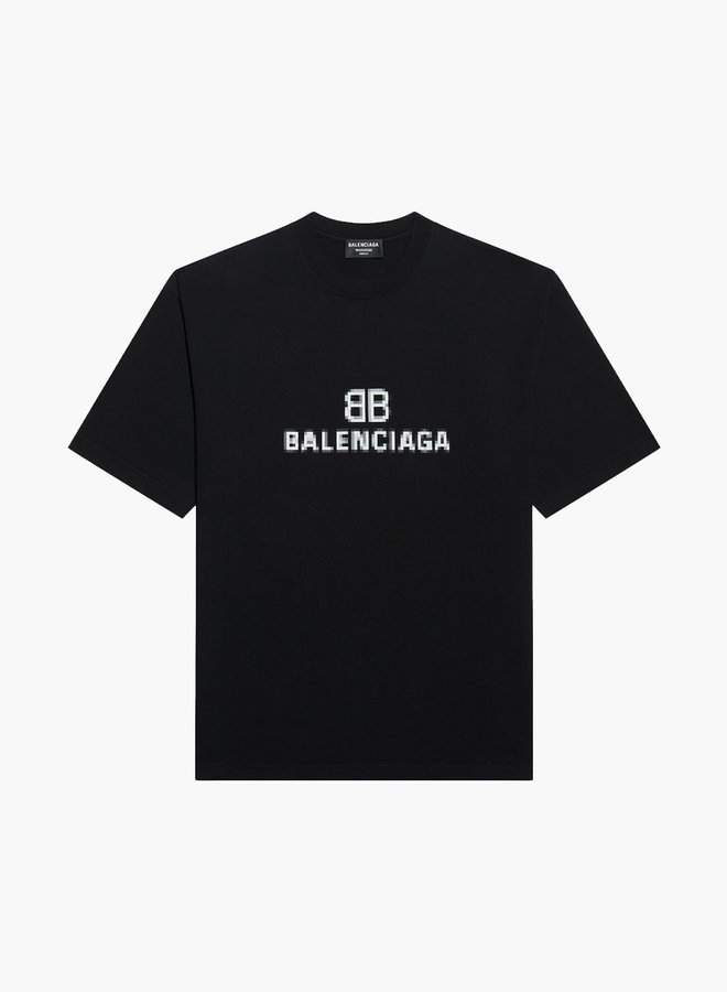 Balenciaga BB Pixel Vintage T-Shirt